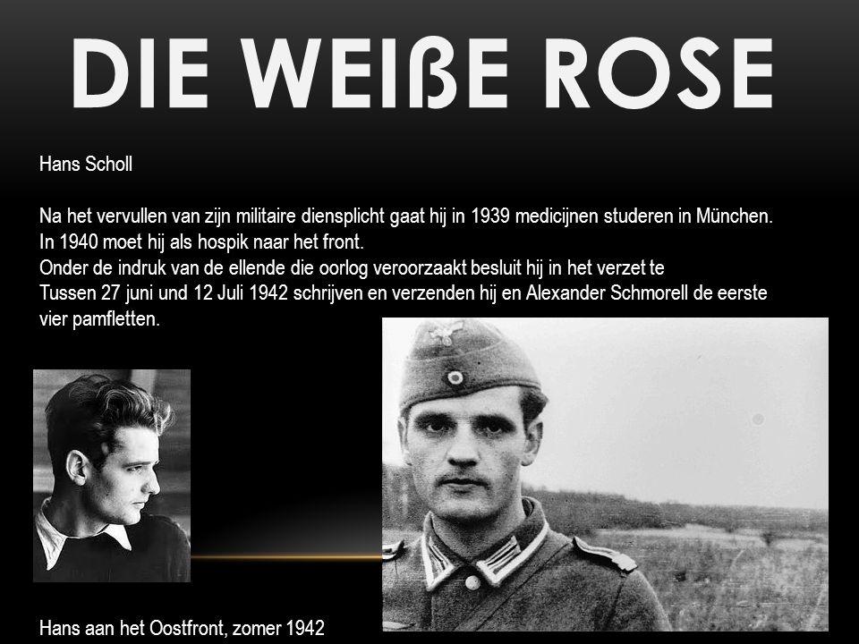DIE WEIßE ROSE Hans Scholl