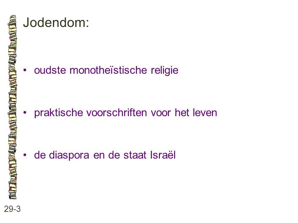 Jodendom: • oudste monotheïstische religie