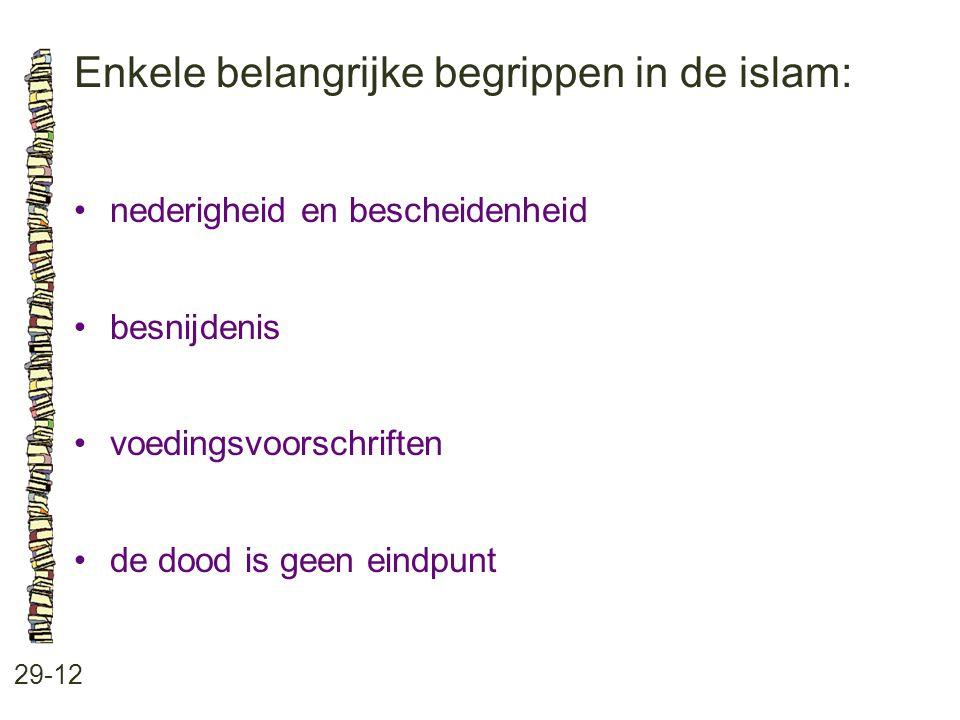 Enkele belangrijke begrippen in de islam: