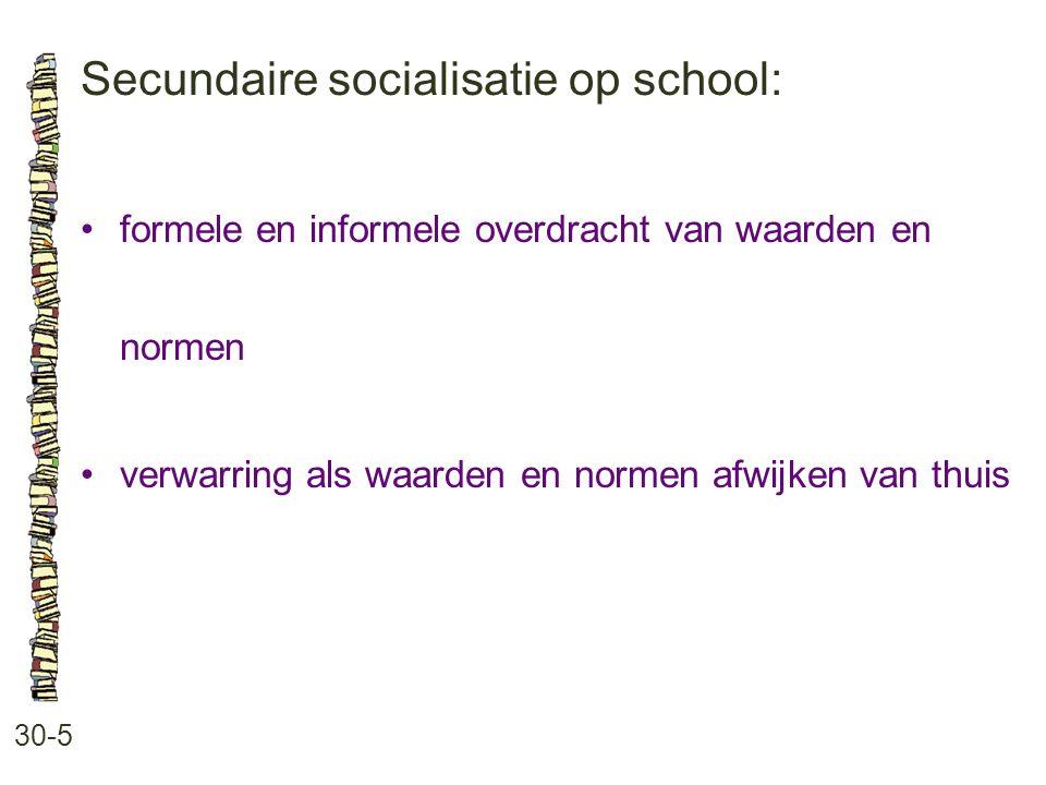 Secundaire socialisatie op school: