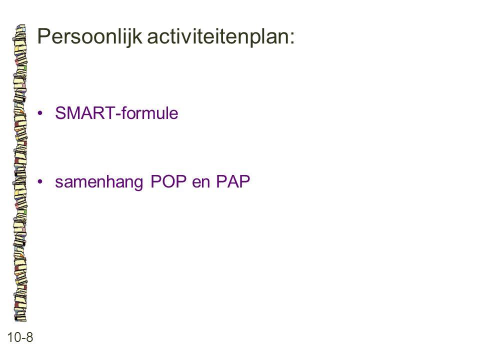 Persoonlijk activiteitenplan: