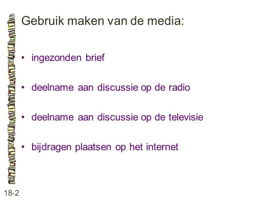 Gebruik maken van de media: