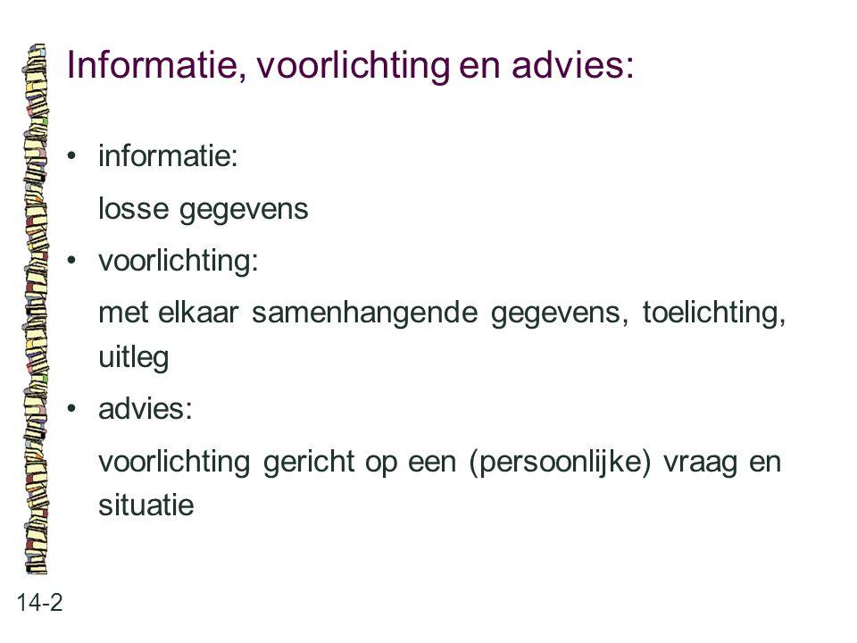 Informatie, voorlichting en advies: