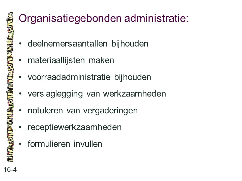 Organisatiegebonden administratie: