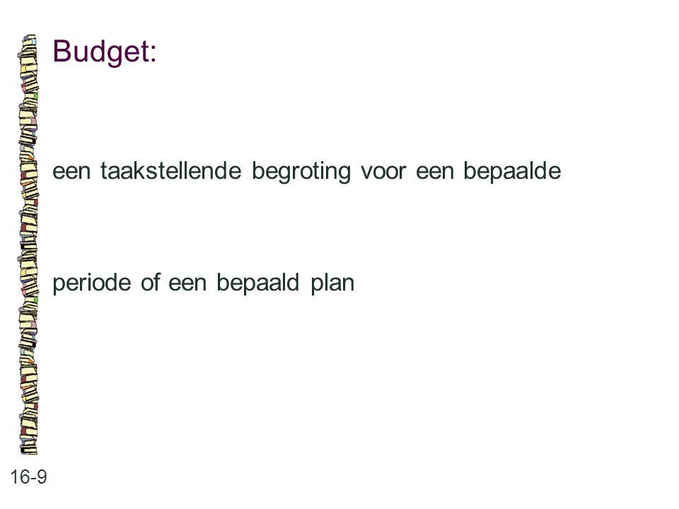 Budget: een taakstellende begroting voor een bepaalde