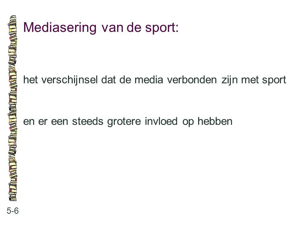 Mediasering van de sport: