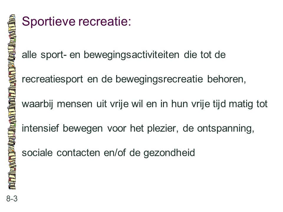 Sportieve recreatie: alle sport- en bewegingsactiviteiten die tot de