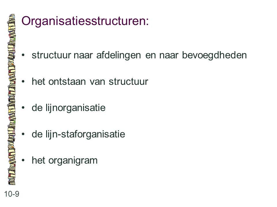 Organisatiesstructuren: