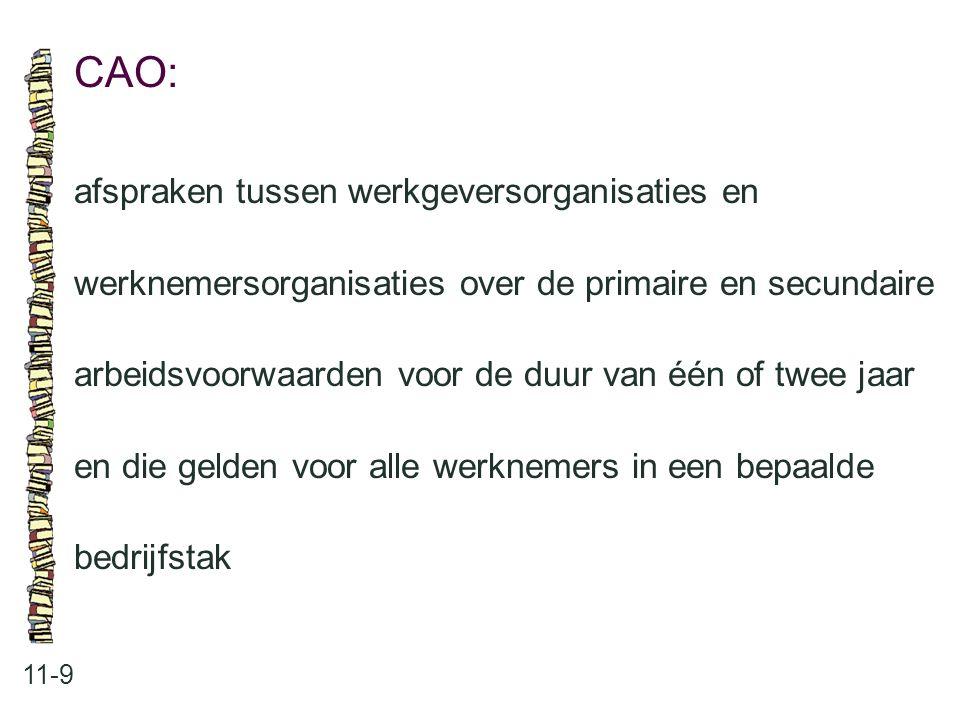 CAO: afspraken tussen werkgeversorganisaties en