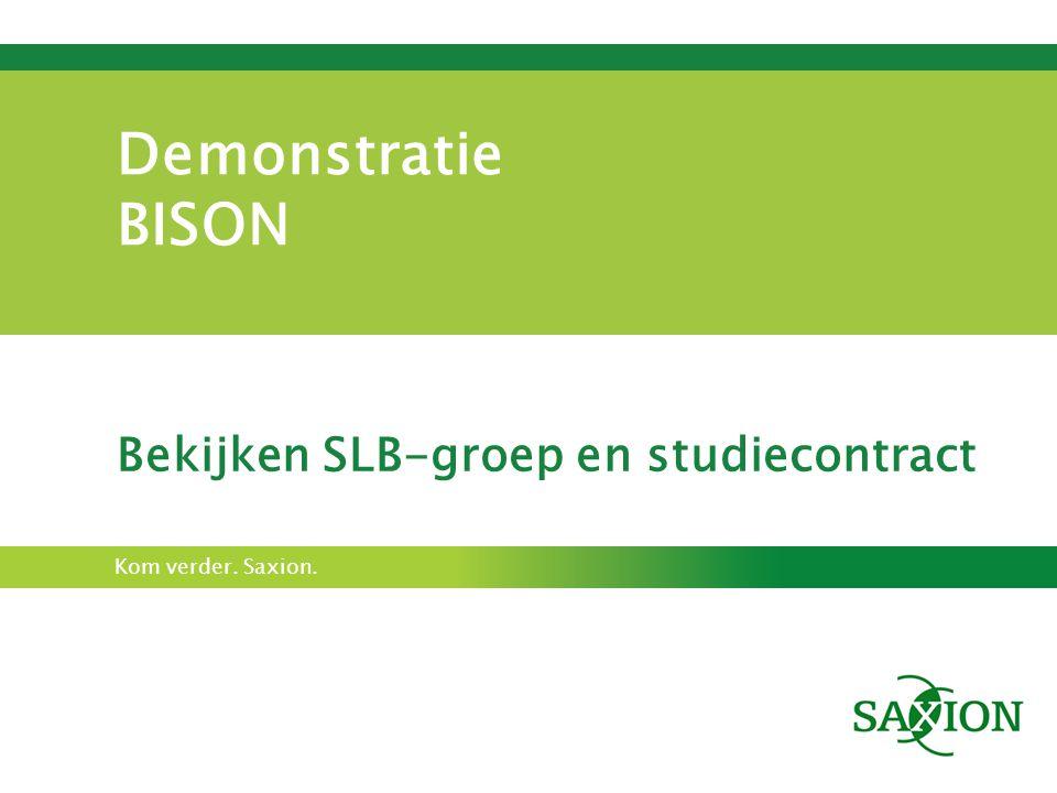 Bekijken SLB-groep en studiecontract