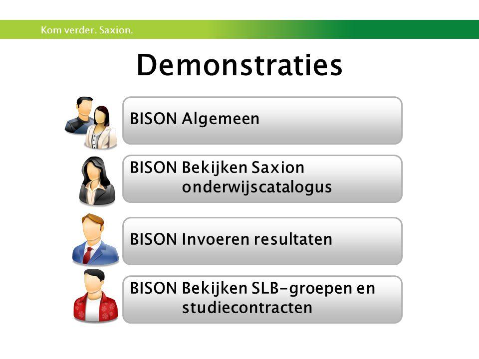 Demonstraties BISON Algemeen BISON Bekijken Saxion onderwijscatalogus