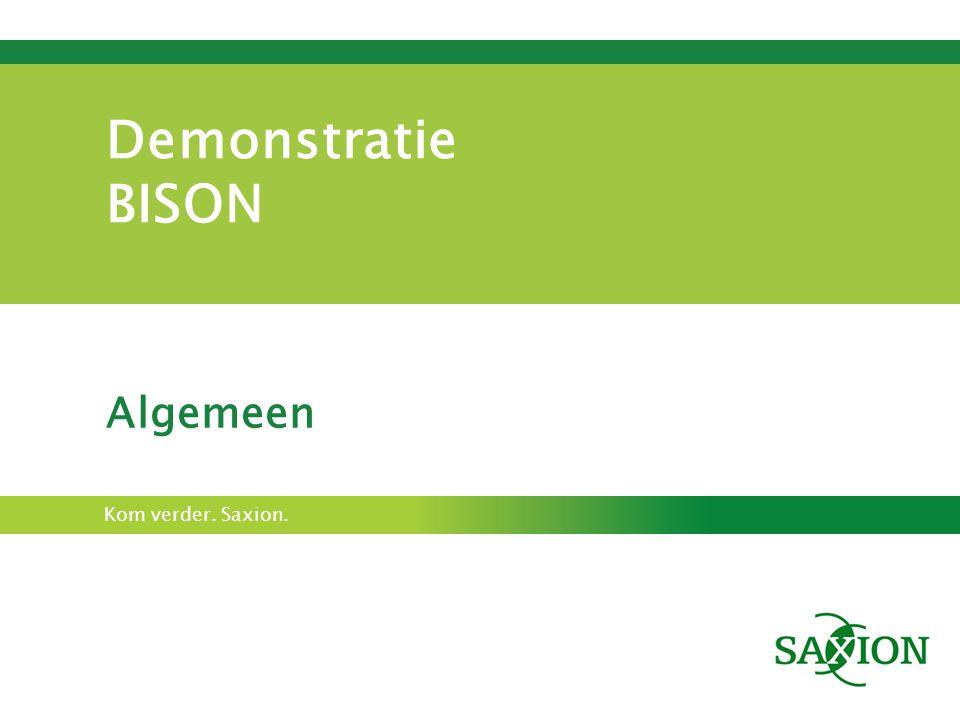 Demonstratie BISON Algemeen