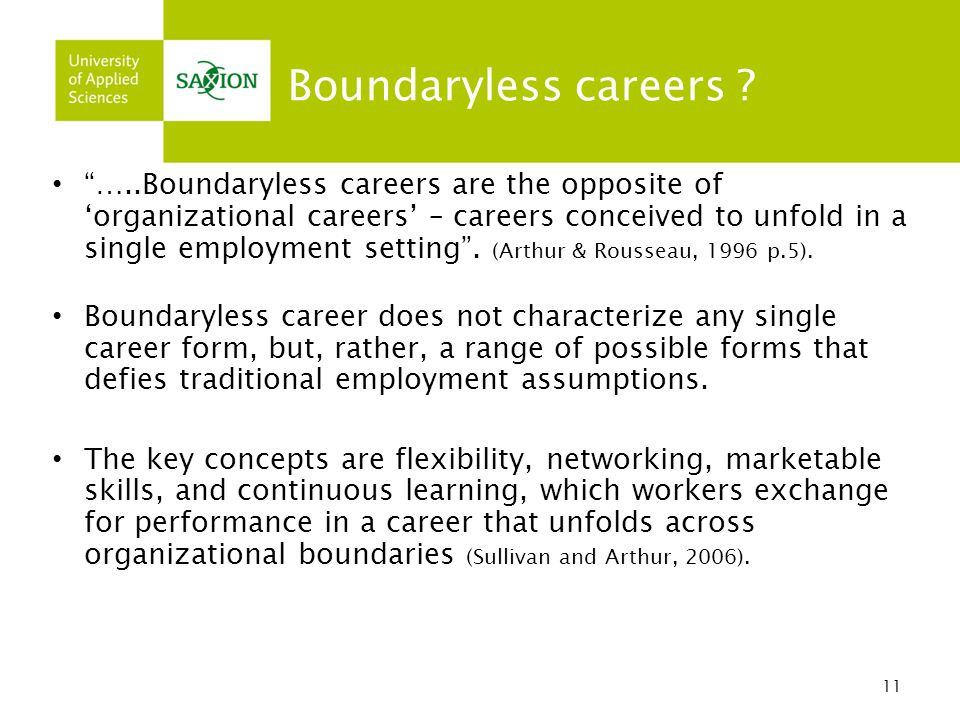 Boundaryless careers