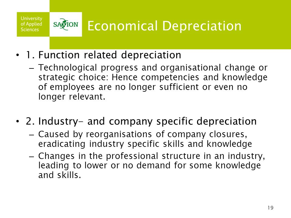 Economical Depreciation