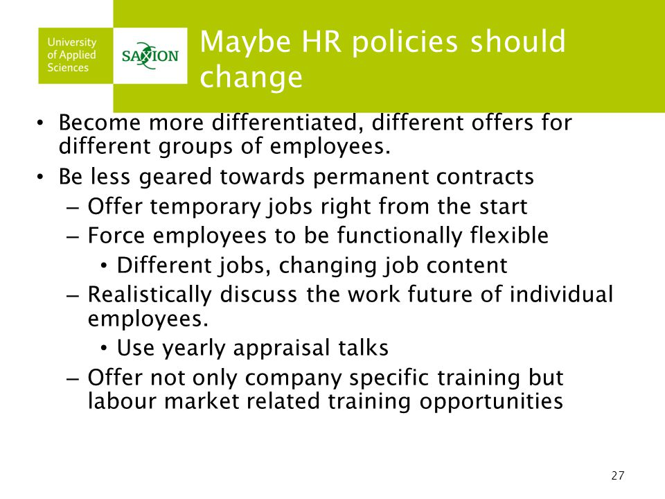 Maybe HR policies should change