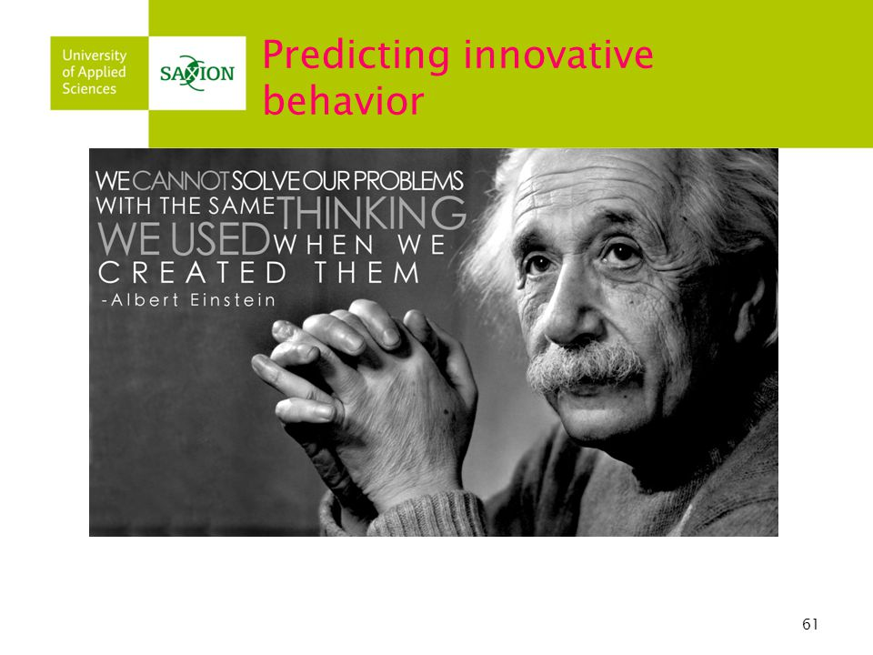 Predicting innovative behavior