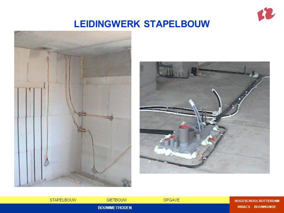 LEIDINGWERK STAPELBOUW