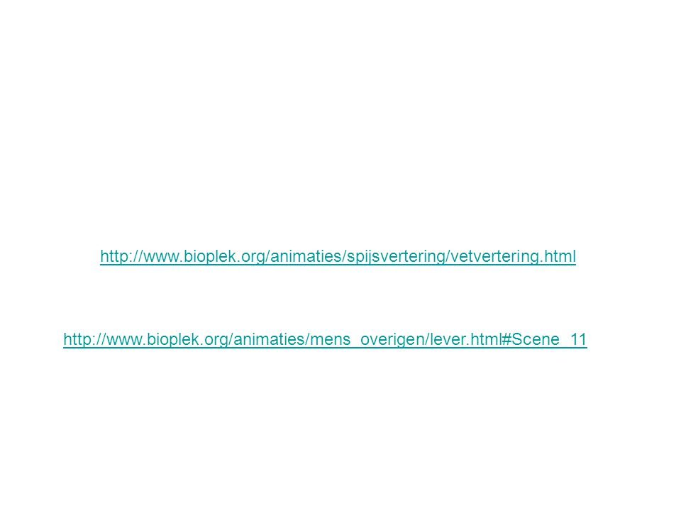 http://www.bioplek.org/animaties/spijsvertering/vetvertering.html http://www.bioplek.org/animaties/mens_overigen/lever.html#Scene_11.