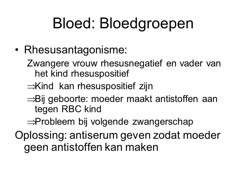 Bloed: Bloedgroepen Rhesusantagonisme: