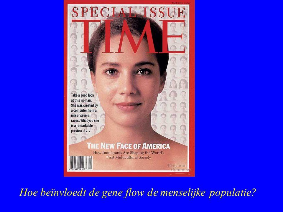Hoe beïnvloedt de gene flow de menselijke populatie