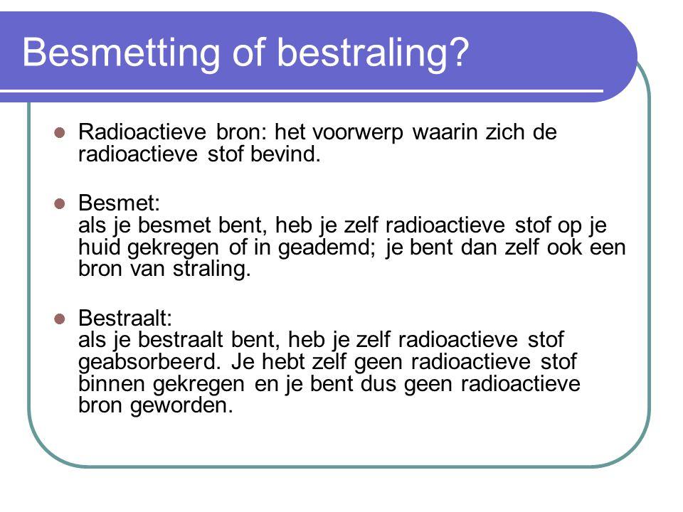 Besmetting of bestraling
