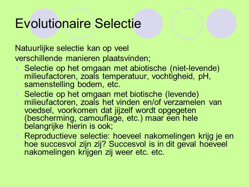 Evolutionaire Selectie
