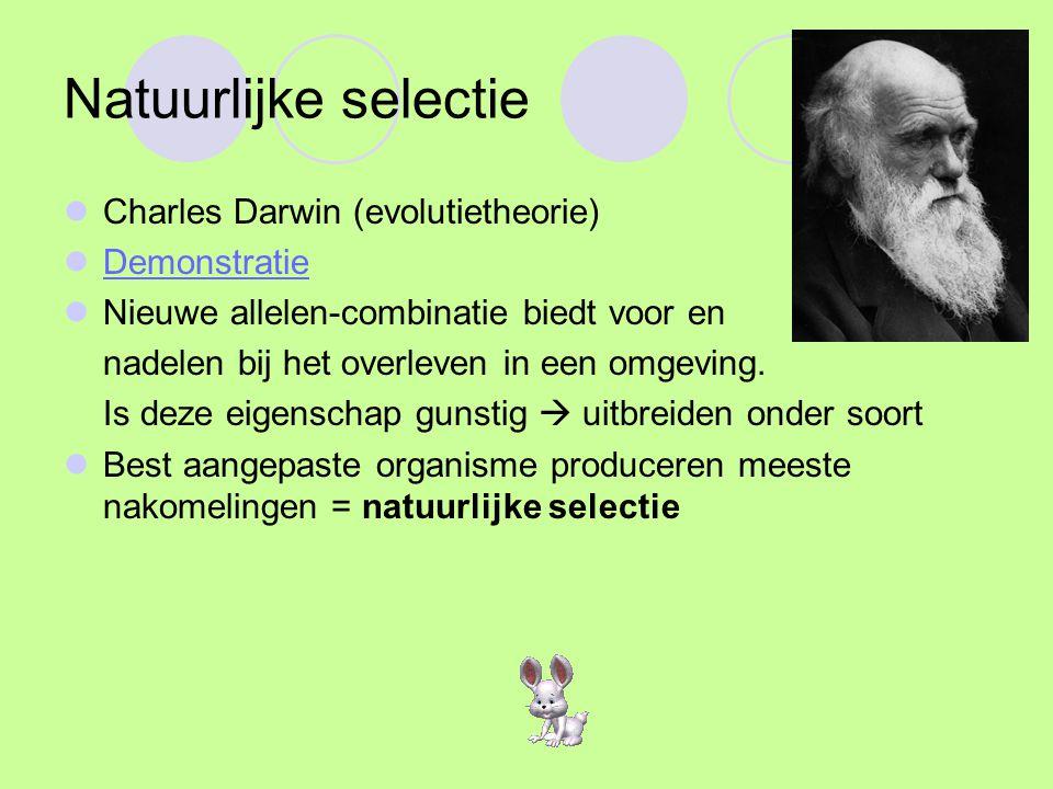 Natuurlijke selectie Charles Darwin (evolutietheorie) Demonstratie