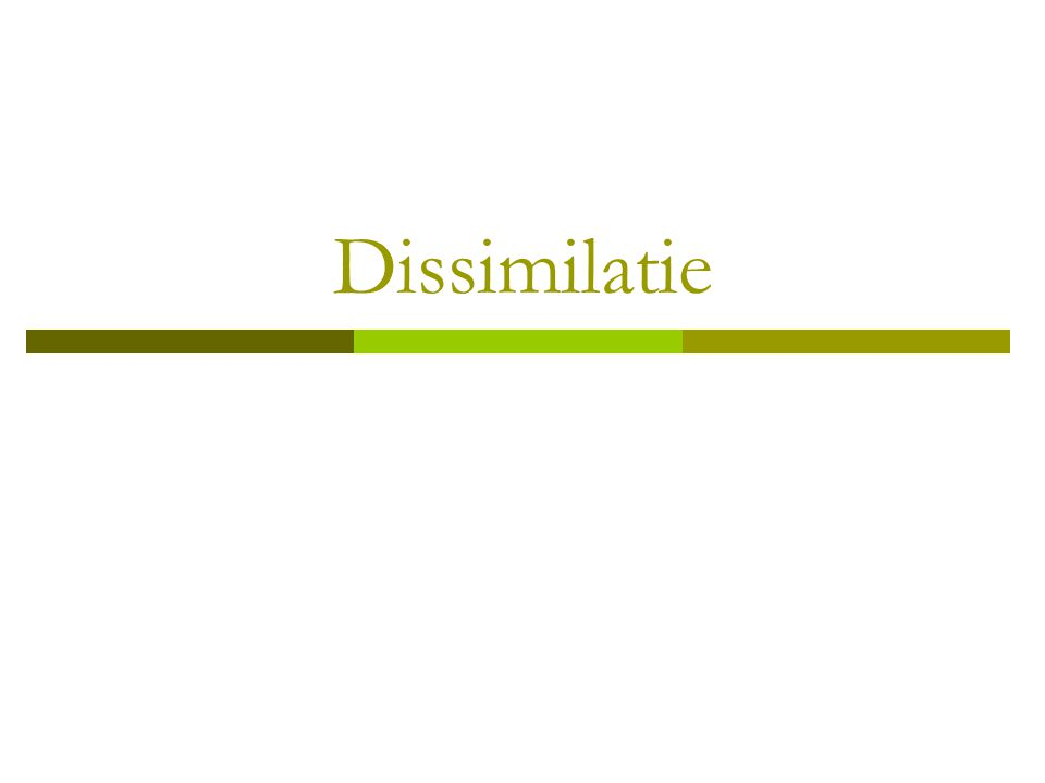 Assimilatie / dissimilatie - ppt download