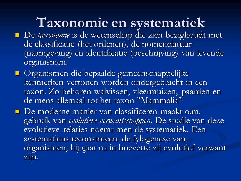 Taxonomie en systematiek