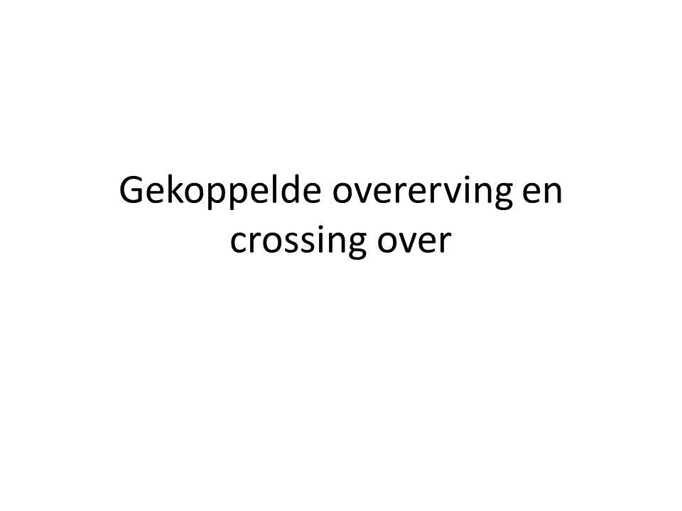 Gekoppelde overerving en crossing over