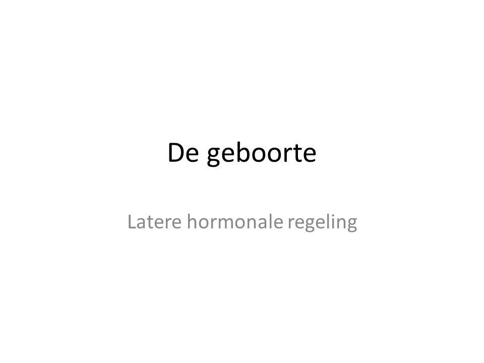 Latere hormonale regeling