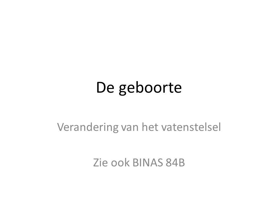 Verandering van het vatenstelsel Zie ook BINAS 84B