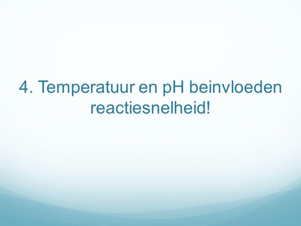 4. Temperatuur en pH beinvloeden reactiesnelheid!