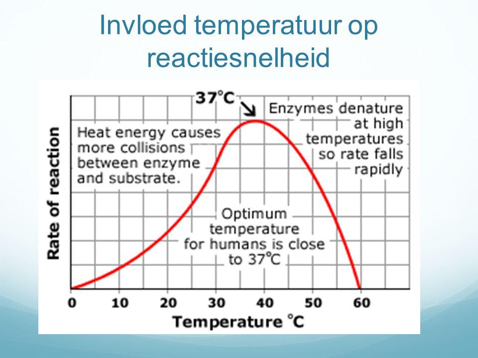 Invloed temperatuur op reactiesnelheid