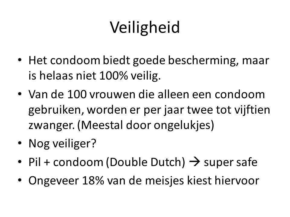 Veiligheid Het condoom biedt goede bescherming, maar is helaas niet 100% veilig.