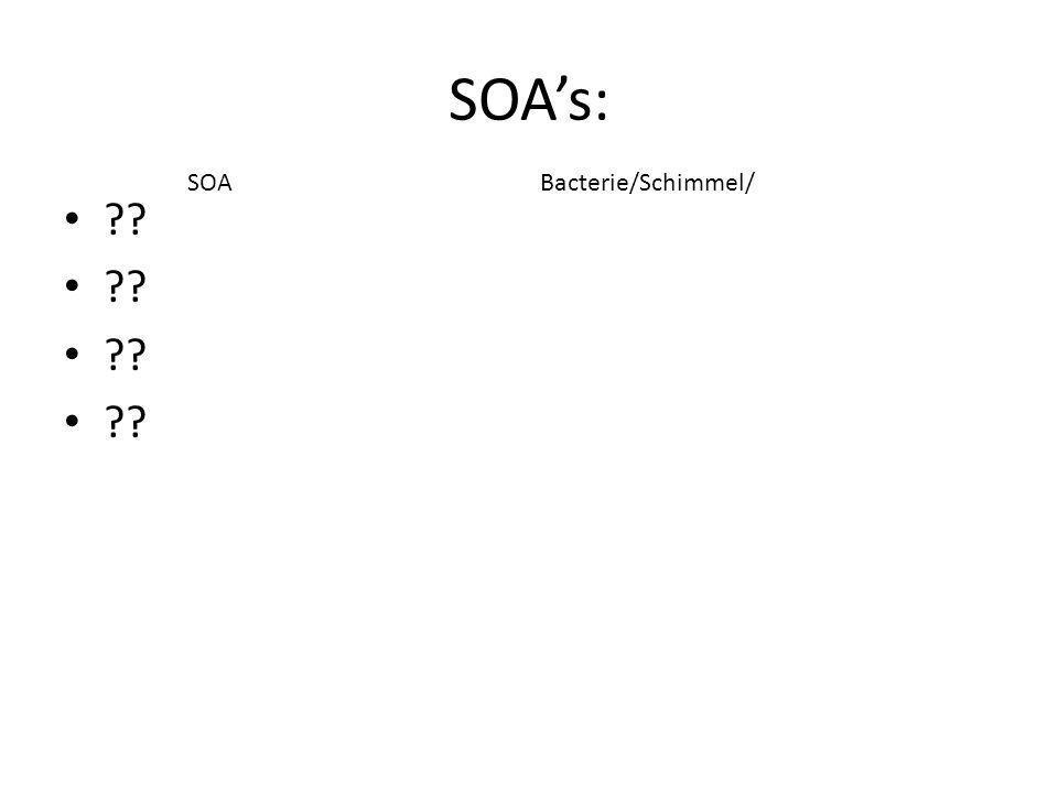 SOA's: SOA Bacterie/Schimmel/ Hier dia-overzicht verkleinen!!
