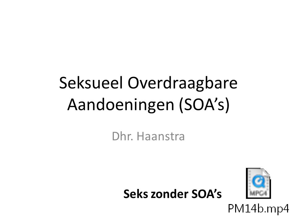 Seksueel Overdraagbare Aandoeningen (SOA's)