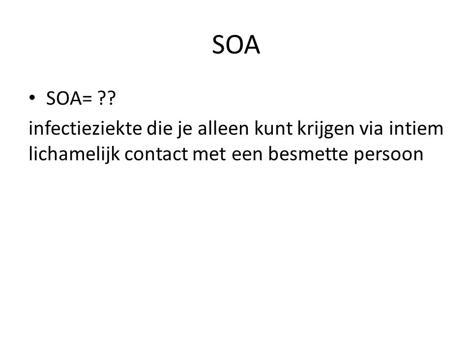 SOA SOA= .
