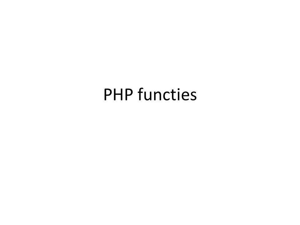 PHP functies