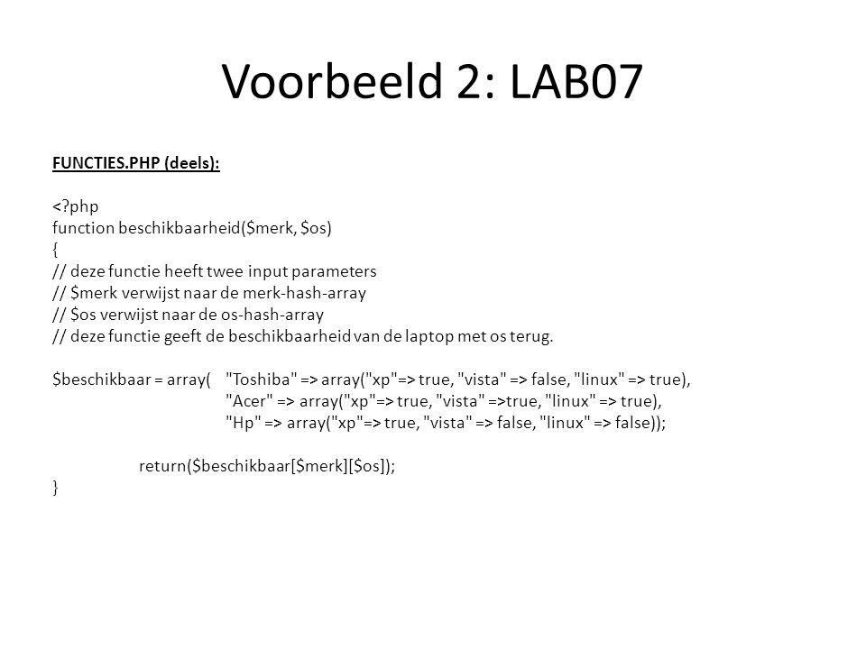 Voorbeeld 2: LAB07