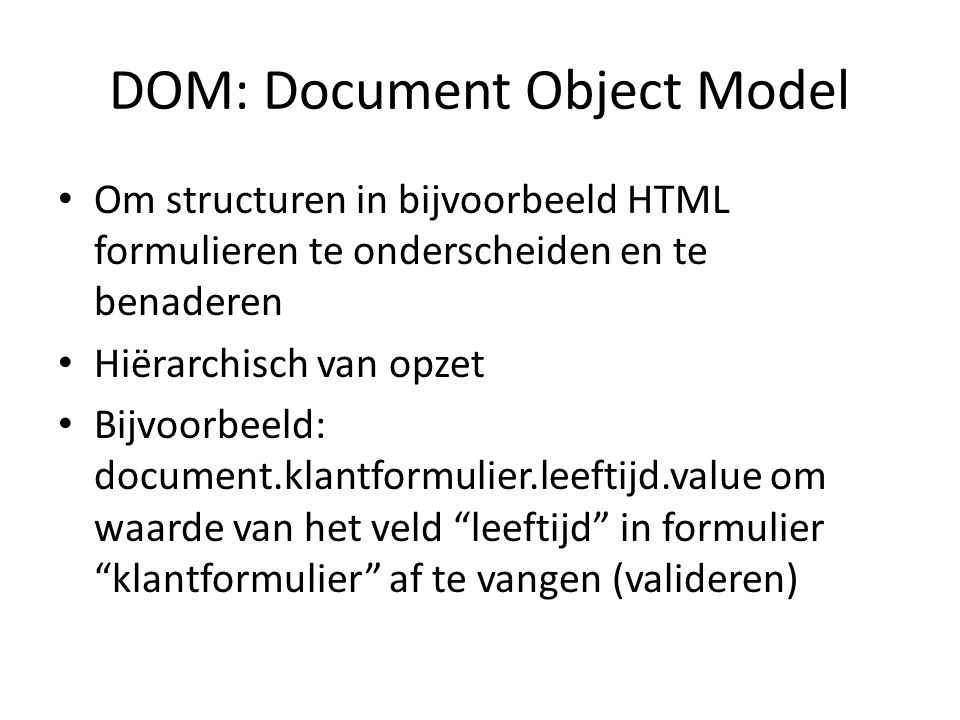 DOM: Document Object Model