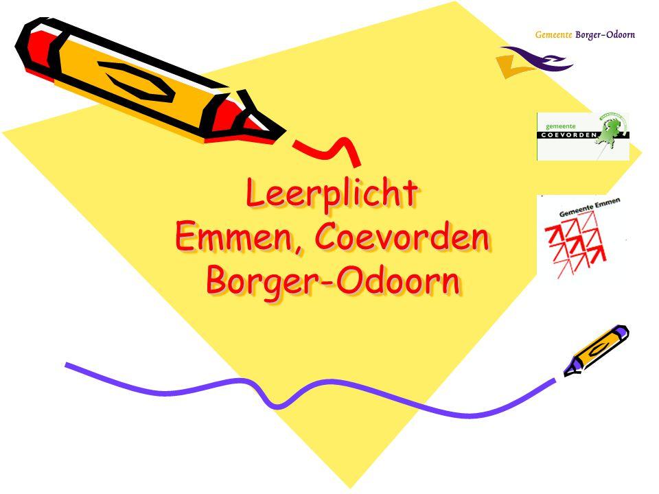 Leerplicht Emmen, Coevorden Borger-Odoorn