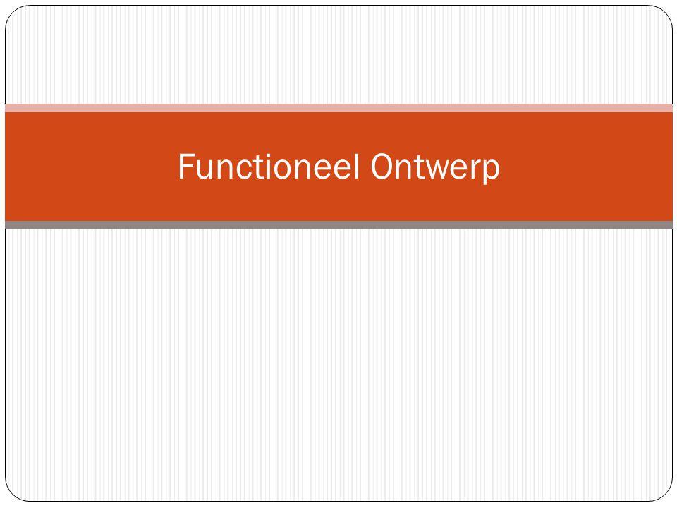 Functioneel Ontwerp