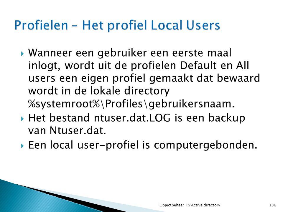 Profielen – Het profiel Local Users