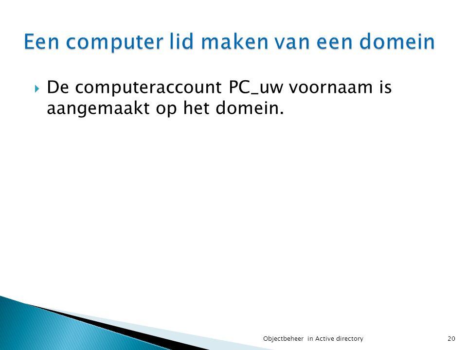 Een computer lid maken van een domein