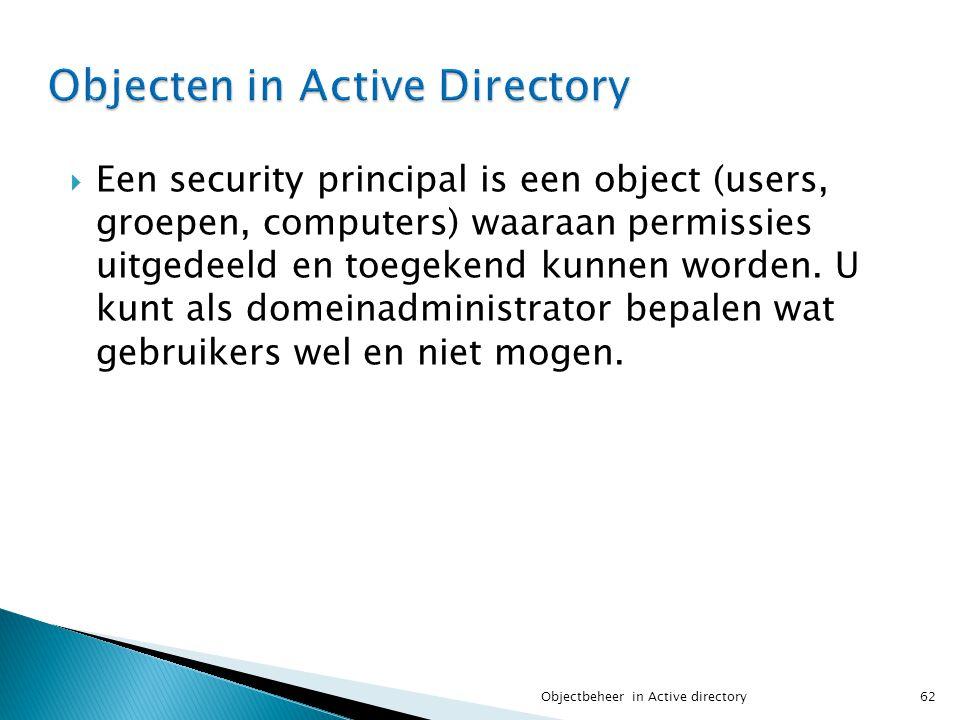 Objecten in Active Directory