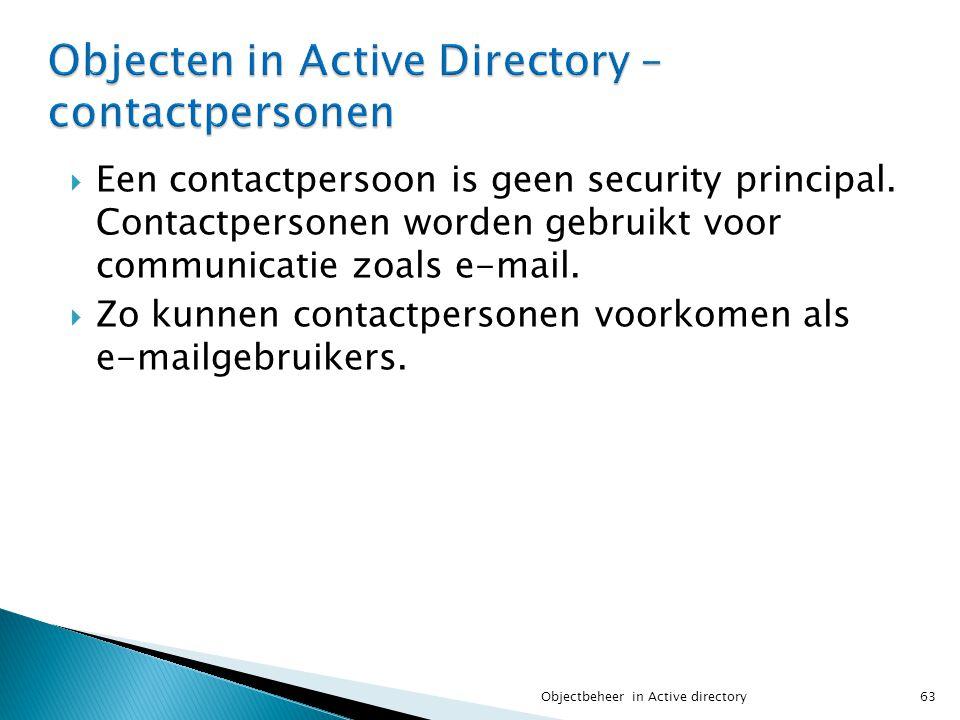 Objecten in Active Directory – contactpersonen