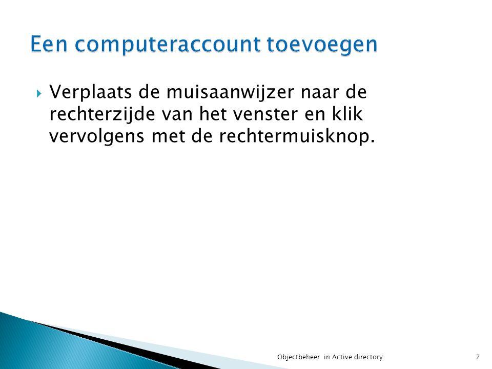 Een computeraccount toevoegen