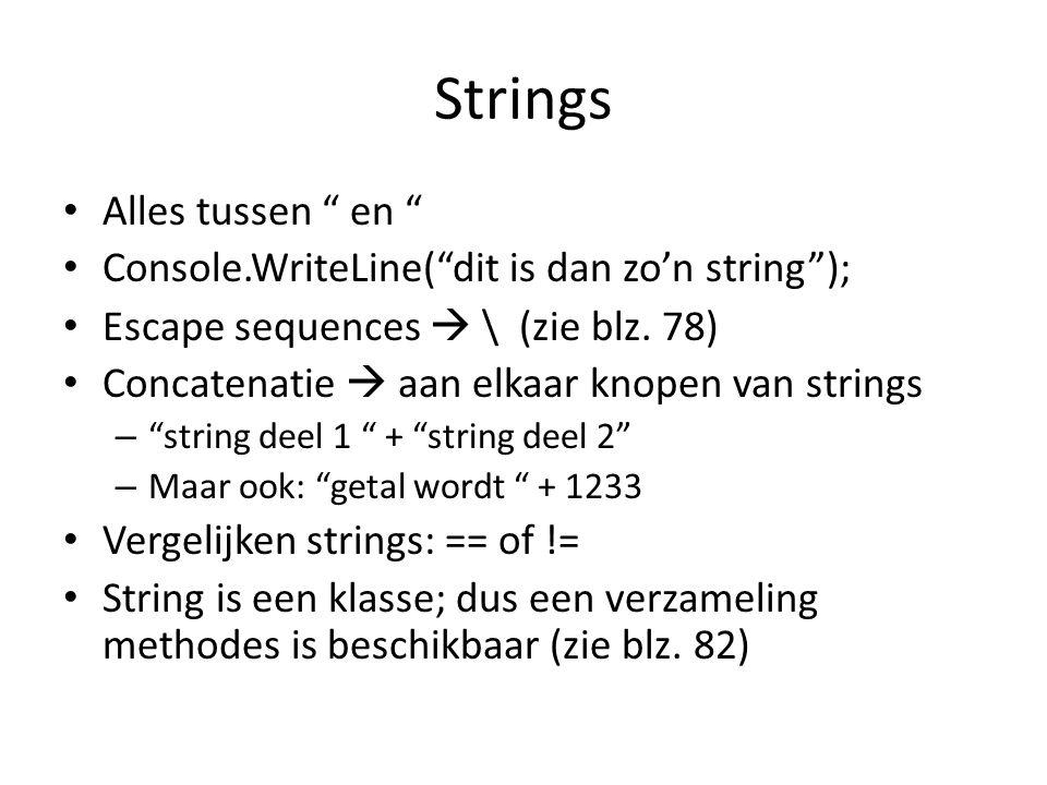Strings Alles tussen en