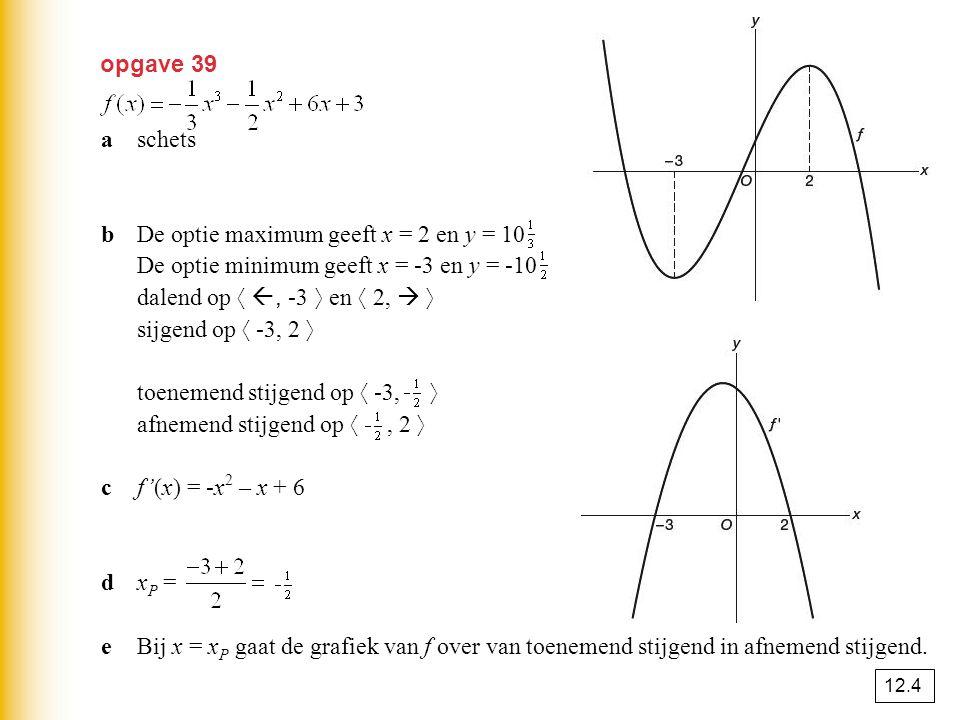 b De optie maximum geeft x = 2 en y = 10